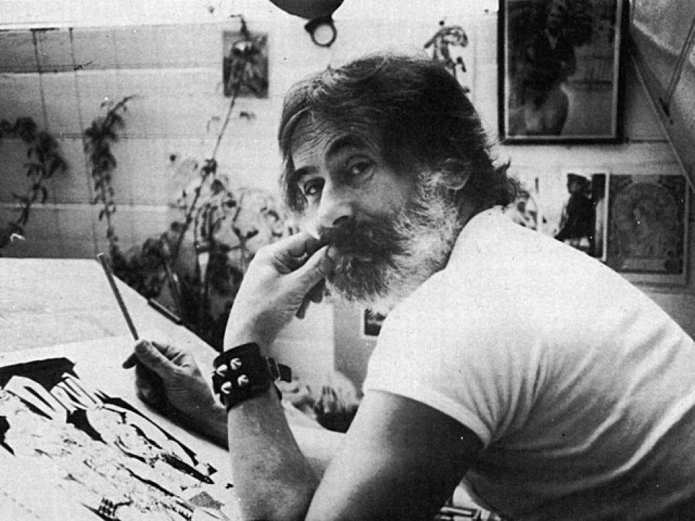 Bill Ward in his studio