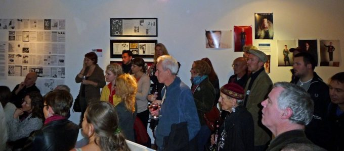 The opening of the exhibition at 198 Gallery