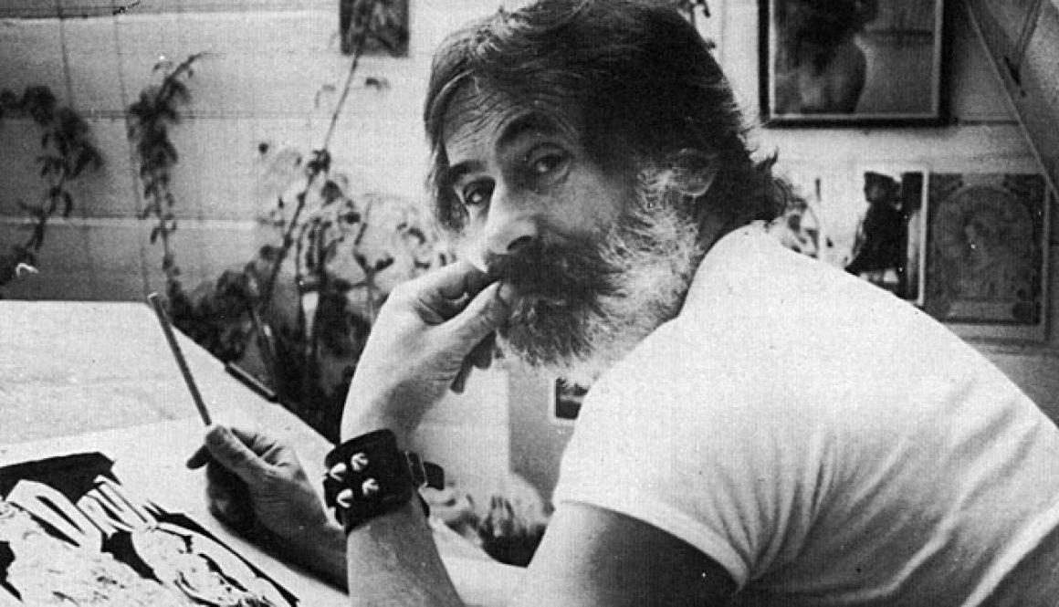 Bill Ward in his studio