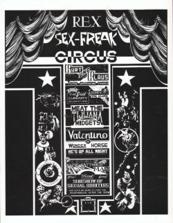 Cover of the notorious Sex Freak Circus print portfolio
