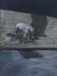 Man with a Dog by Francis Bacon