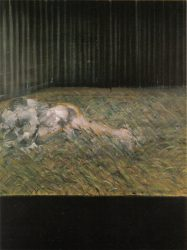 Two Figures in the Grass by Francis Bacon